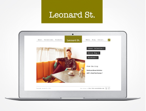 Leonard St. wordpress website