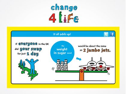 Change 4 Life 'Smart Swap' visual concepts