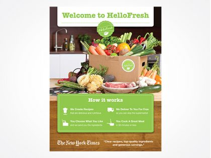 HelloFresh leave-behind