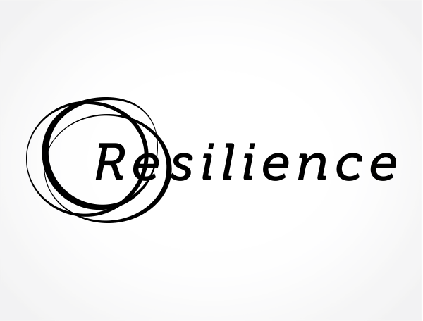 Resilience logo identity and flyer