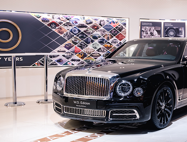 Bentley Geneva International Motor Show stand 2019